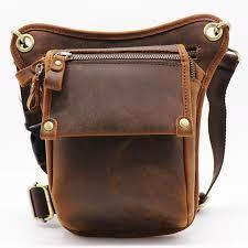 vintage genuine cow leather belt bag men s waist bag leg pack shoulder bagmobile phone