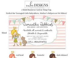 Pet Sitter Business Cards Pet Business Card Etsy
