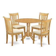 East West Furniture Dlpo5 Oak C 5 Pc Dublin Kitchen Table Set Dining