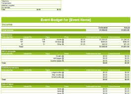 Event Budget Sample Event Budget Templates
