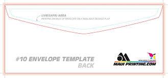 Size Of 10 Envelope Maui Printing Company Inc 10 Envelope Template