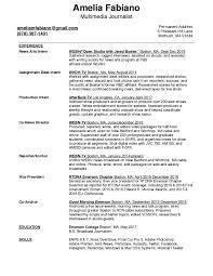 Professional Journalism Resume Template Unique Resume Sample