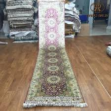 long hallway runners extra long rug runners 2 5 china silk carpet hand knotted oriental photos 12 foot long rug runners