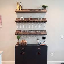 wood wine rack wall mounted shelf