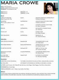 Actor Resume Gorgeous Actor Resume Template Acting Resume Ambfaizelismail
