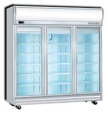 3d df upright display freezer 3 door