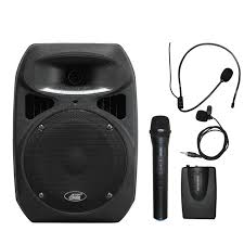 sound system with mic. audio2000s awp6406hl 30w dual channel wireless microphone portable pa system sound with mic w