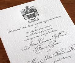 divorced parents wedding invitation. formal letterpress wedding invitation with family crest and divorced parents wording d