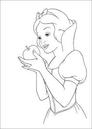 Small Picture Snow White apple coloring page