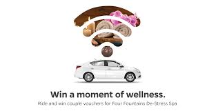 ride and win couple vouchers for four fountains de stress spa