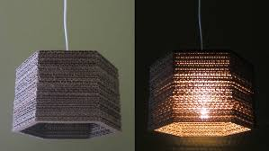 cardboard lamp diy hexagon best out of waste project ezycraft you