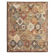 patchwork medallion multi 8 ft x 10 ft area rug