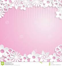 Paper Flower Background Background With Paper Flowers Stock Vector Illustration Of Pink