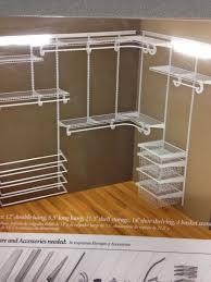 Closetmaid white wire closet for master closet and the kids closet