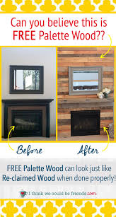 palette wood fireplace surround looks just like re claimed wood love the warmth and