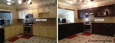 Impressive Refinish Kitchen Cabinets Refacing Kitchen Cabinets Wood Refinish  Cost Reface Kitchen