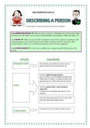 english teaching worksheets descriptive essays english worksheets descriptive essay describing people