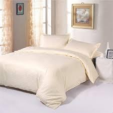 100 cotton 1cm satin cream colored hotel quality bedding sets duvet cover sets