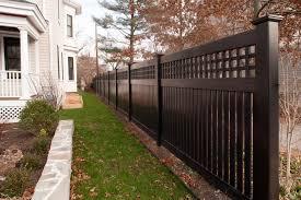black vinyl privacy fence. Illusions Black Vinyl Pvc Semi Privacy Fencing Panels 2 Fence