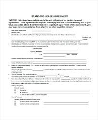Rental Agreement Letters Simple Apartment Lease Form Month To Rental Agreement Forms Periodic ...