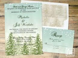 Rustic Winter Wedding Invitations Idea Rustic Winter Wedding Invitations For Large Size Of Invitations