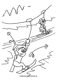 Kleurplaat Skilift Winterberg Sport
