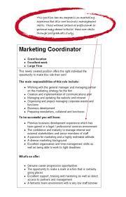 marketing postgraduate area of study degrees to careers example job ad