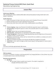 Gantt Chart Manufacturing Process Lesson Plan Statistical Process Control Spc Tools Gantt