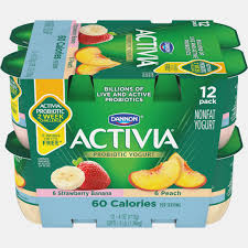yogurt nutrition label activia light strawberry banana