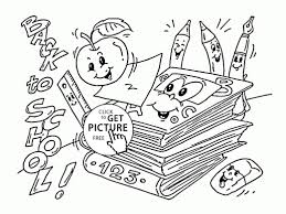 security back to school color pages coloring for preschool com