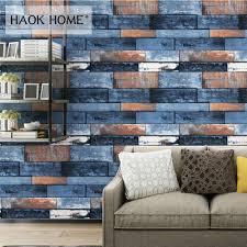 Haokhome Houten Plank Behang Voor Muren 3d 053 M 10 M Pvc Moderne