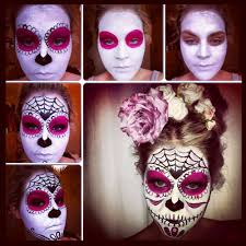 a quick easy tutorial on how to do a sugar skull face paint from stephanie makeup artist