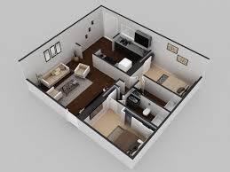 3d residential modern house floor plan