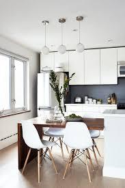 modern kitchen dining sets. an artistic couple\u0027s toronto home | design*sponge · modern kitchen tableswhite chairsmodern dining sets n