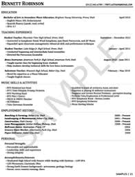 education sample of the resume