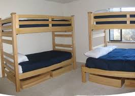 There are TWO sets of bunk beds in this room. One of them has a