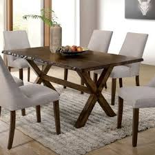 furniture of america ton upholstered dining chairs set of 2