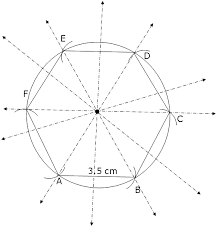 Construct A Regular Hexagon Of Side 35 Cm Draw Its Lines Of