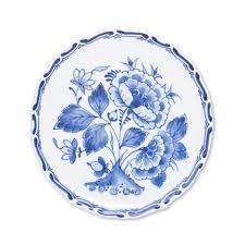 Floral Plate Design Royal Delft Plate Floral Design 11cm
