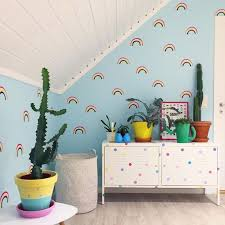 rainbow wall decals colorful plastic