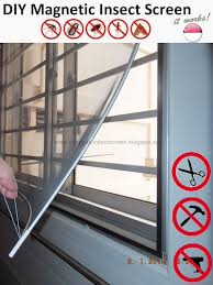 diy magnetic mosquito insect screen kit sg er window netting net mesh fly