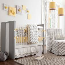 View in gallery Gray and white chevron stripes coupled with pops of yellow  in the contemporary nursery [Design