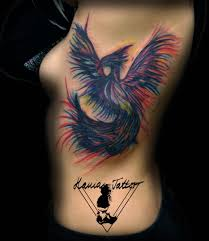 Tetování Fénix Ve Vodovce Watercolour Fenix Tattoo Tetování