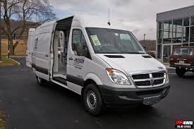 this 2008 dodge sprinter is equipped with a complete weather guard work van storage solution including shelves drawers and a bulkhead
