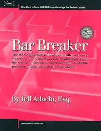 essay exam california bar examination lawguides at santa clara  bar breaker by jeff adachi