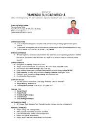 RESUME OF RAMENDU SUNDAR MRIDHA (B.Sc. in Civil Engineering, ...