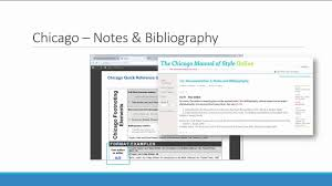 Chicago Notes Bibliography Referencing