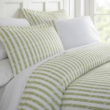 becky cameron rugged stripes patterned performance sage twin 3 piece duvet cover set