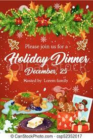 christmas dinner poster christmas dinner invitation for xmas party design christmas dinner