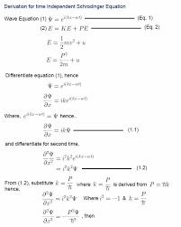 derivation for schrodinger equation
